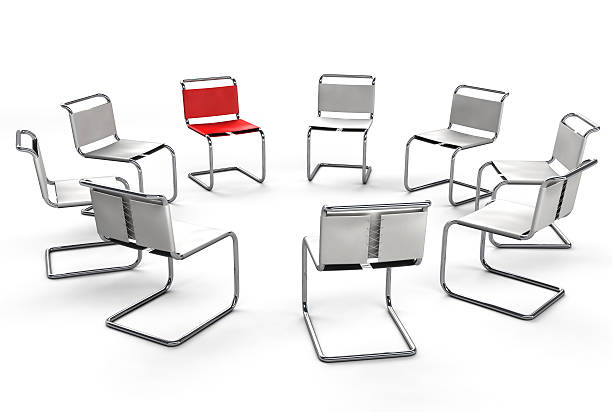 Office Chair Concept - Circle Group Meeting stock photo