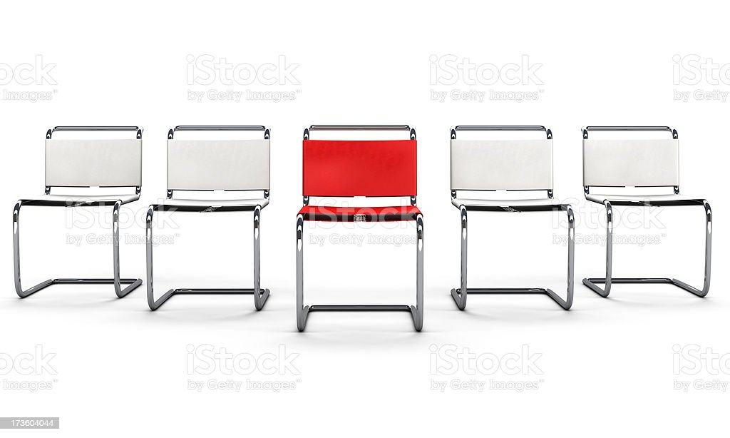 Office Chair Concept - Follow the Leader stock photo