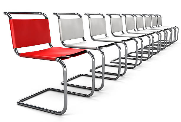 Office Chair Concept - Standing Out stock photo