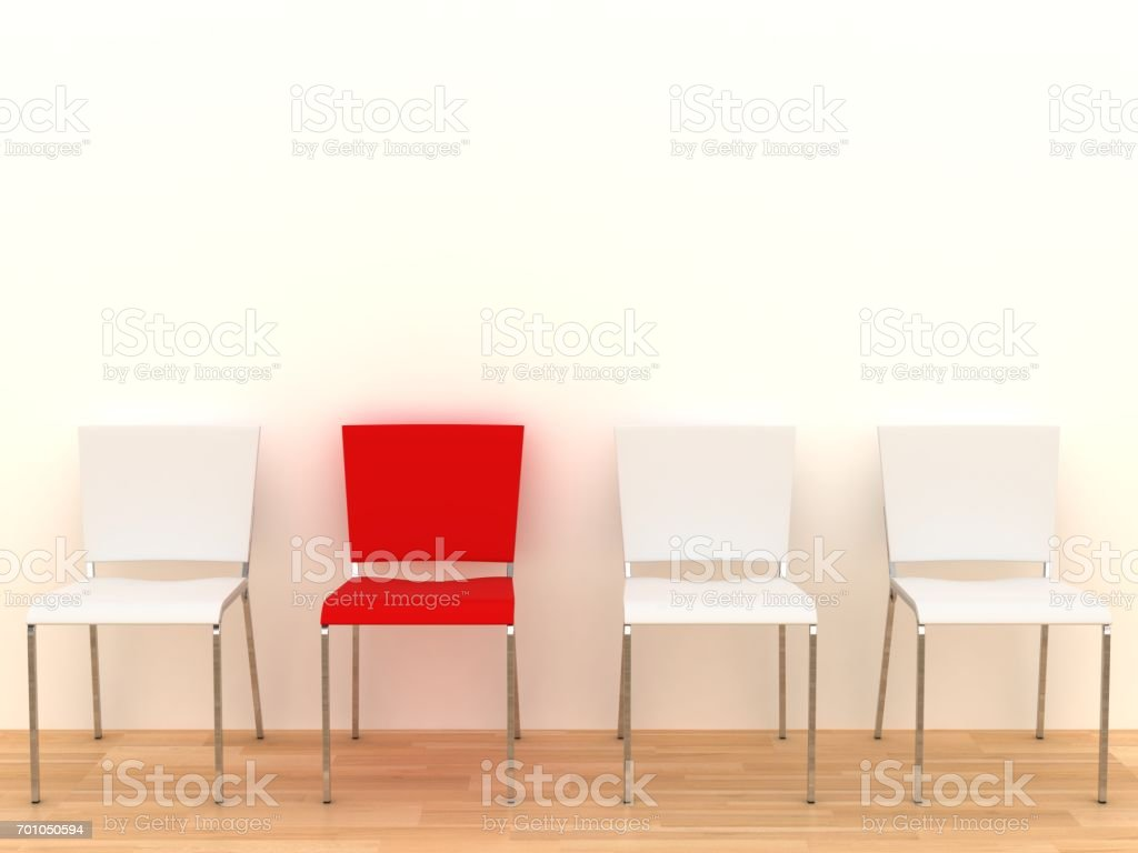 Office chair different team leader concept stock photo