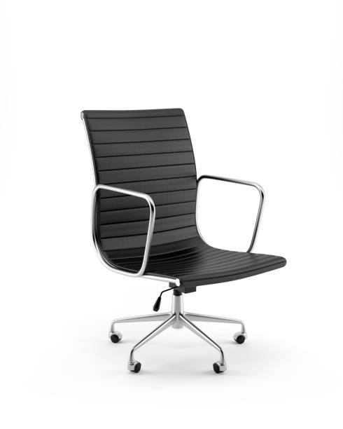 Office Chair Isolated on White Background stock photo