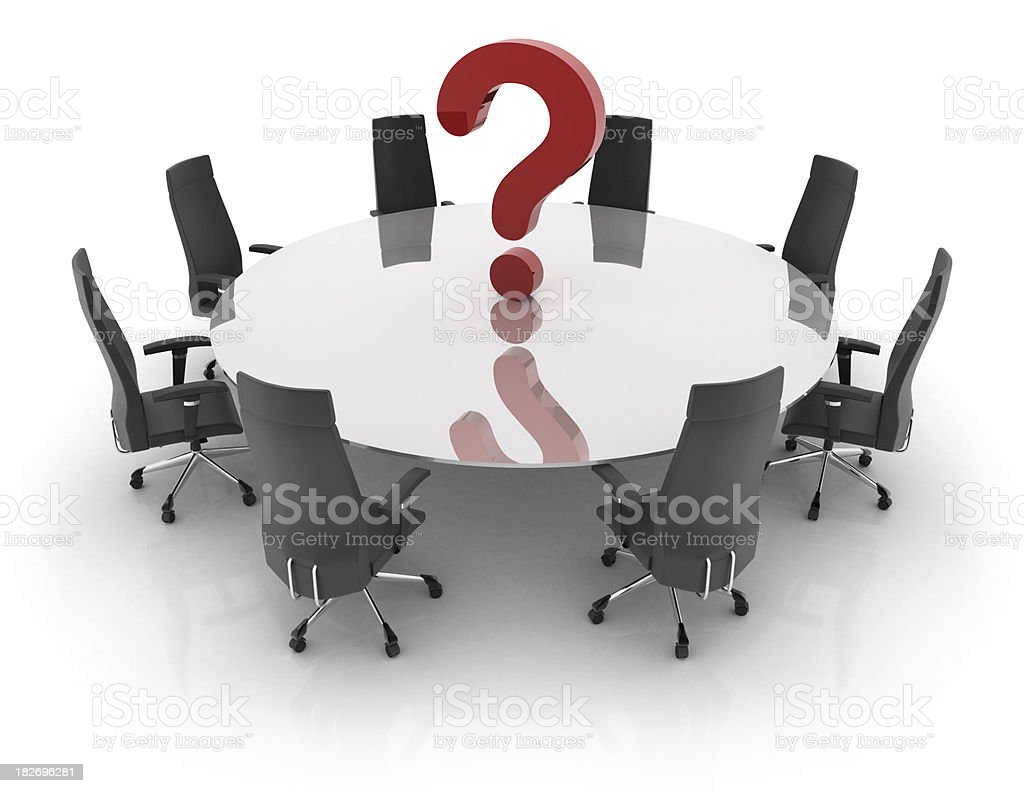Office chairs with interrogation sign royalty-free stock photo
