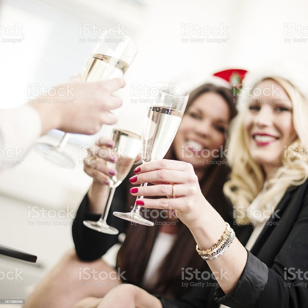 Office christmas party royalty-free stock photo