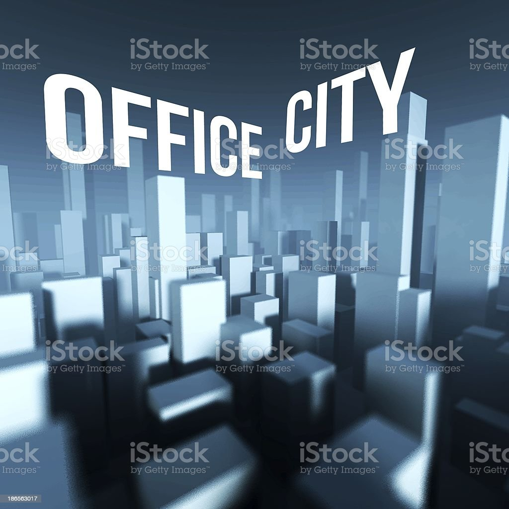 Office city in 3d model of downtown, Architectural creative concept royalty-free stock photo