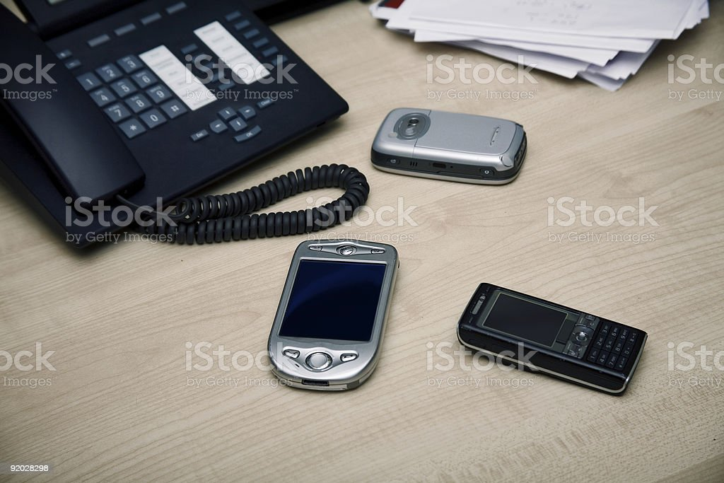 Office communication devices royalty-free stock photo