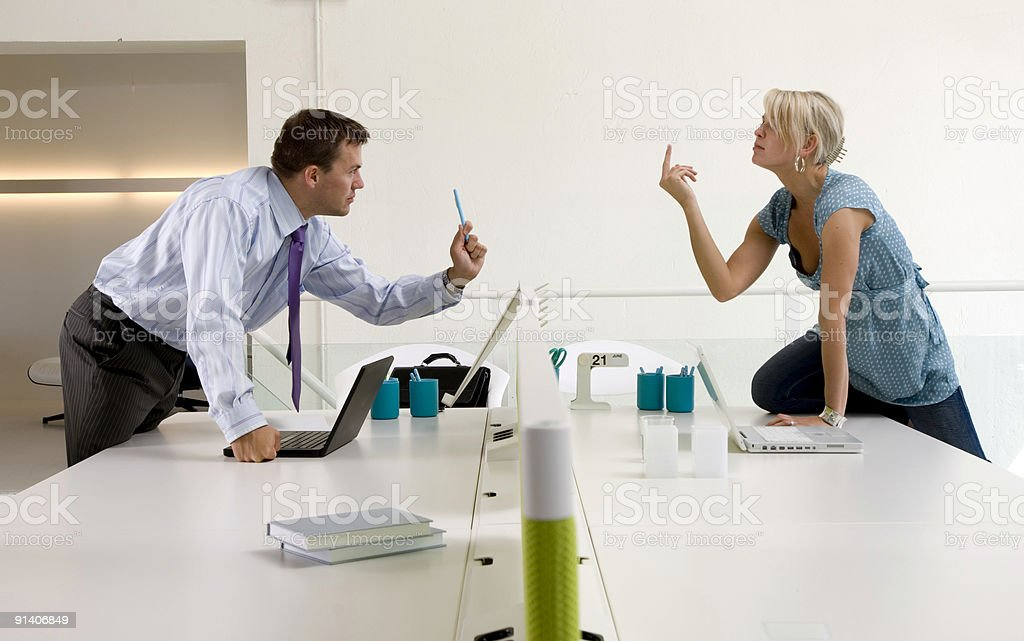 office conflict royalty-free stock photo