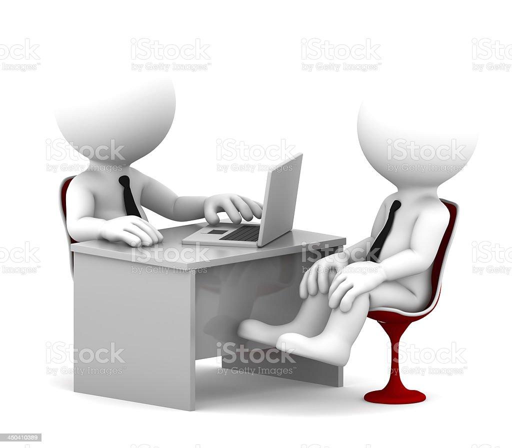 Office consultation stock photo
