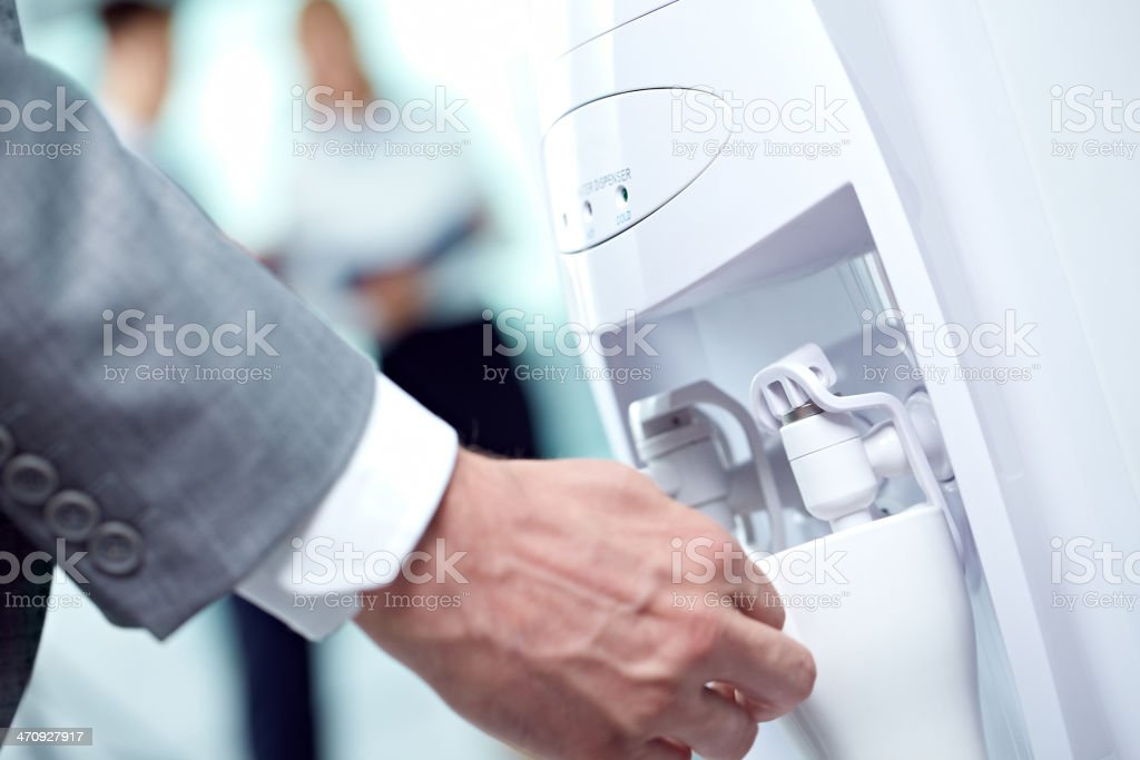 Office cooler stock photo