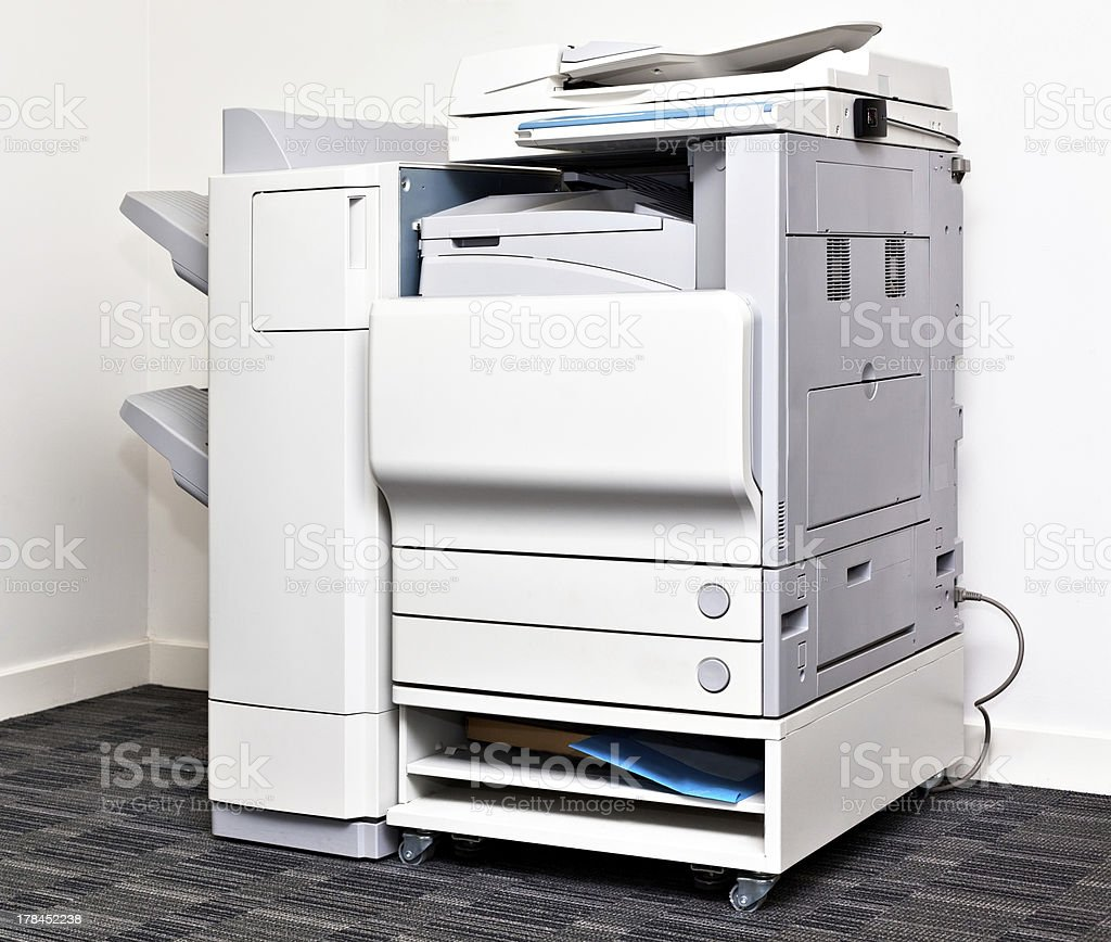 Office copying machine stock photo