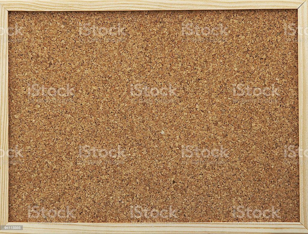 office cork board stock photo