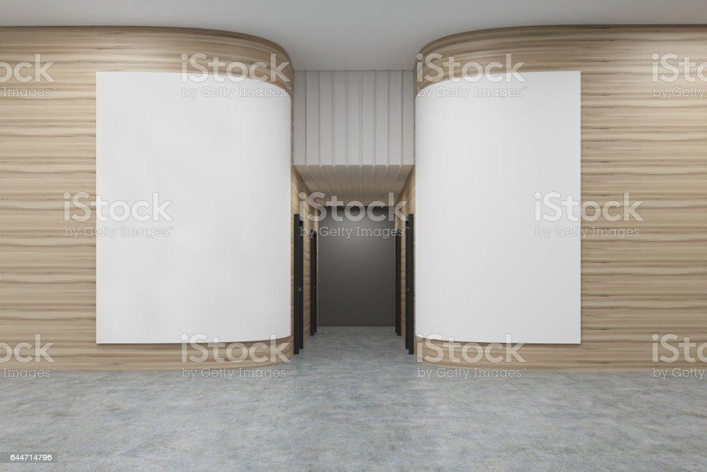 Buro Flur Mit Abgerundeten Wanden Stock Fotografie Und Mehr Bilder