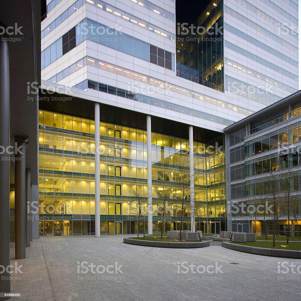 Office courtyard stock photo