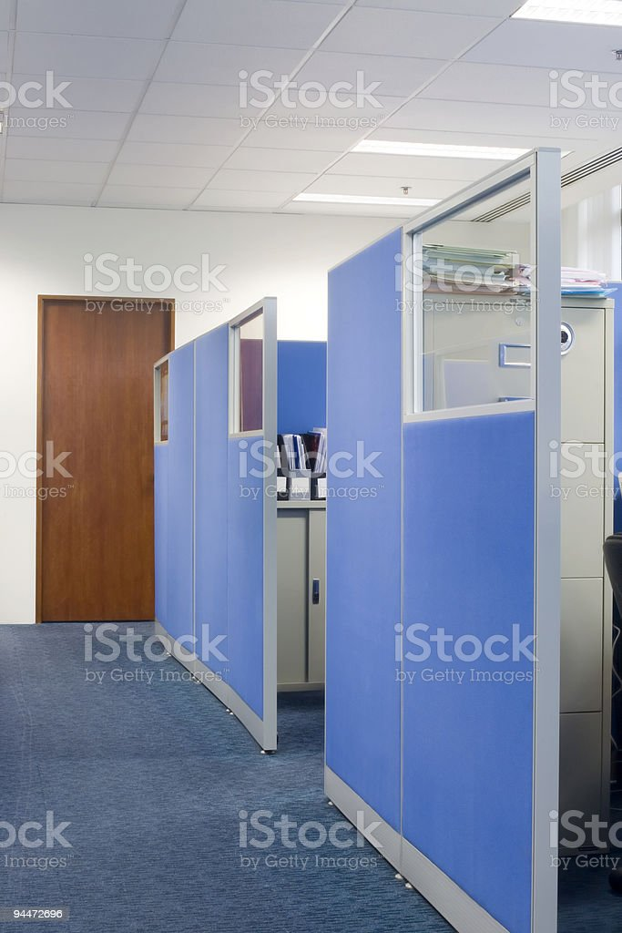 Office cubicle partitions stock photo