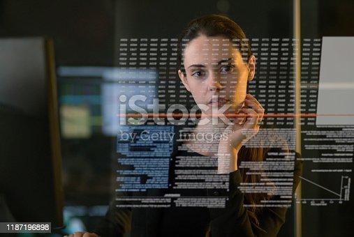 1129342100 istock photo Office Data Woman 1187196898