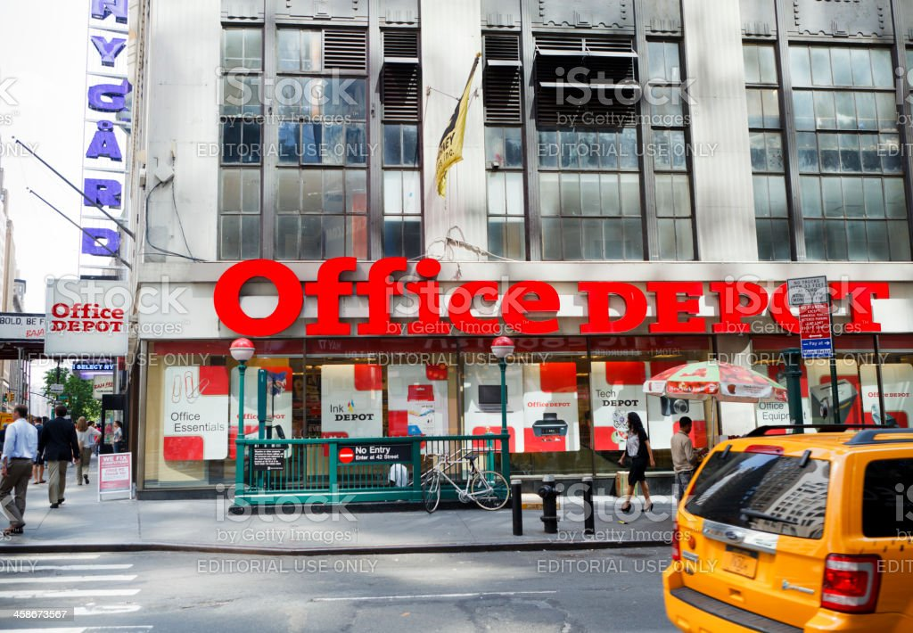 Office Depot Store Midtown Manhattan stock photo