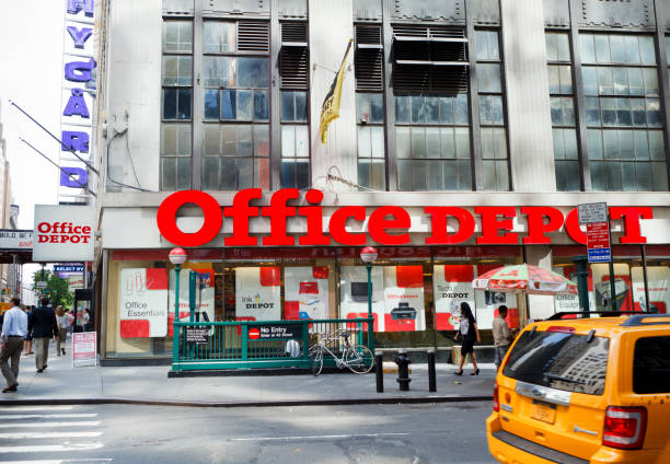 Office Depot Store Midtown Manhattan stock photo