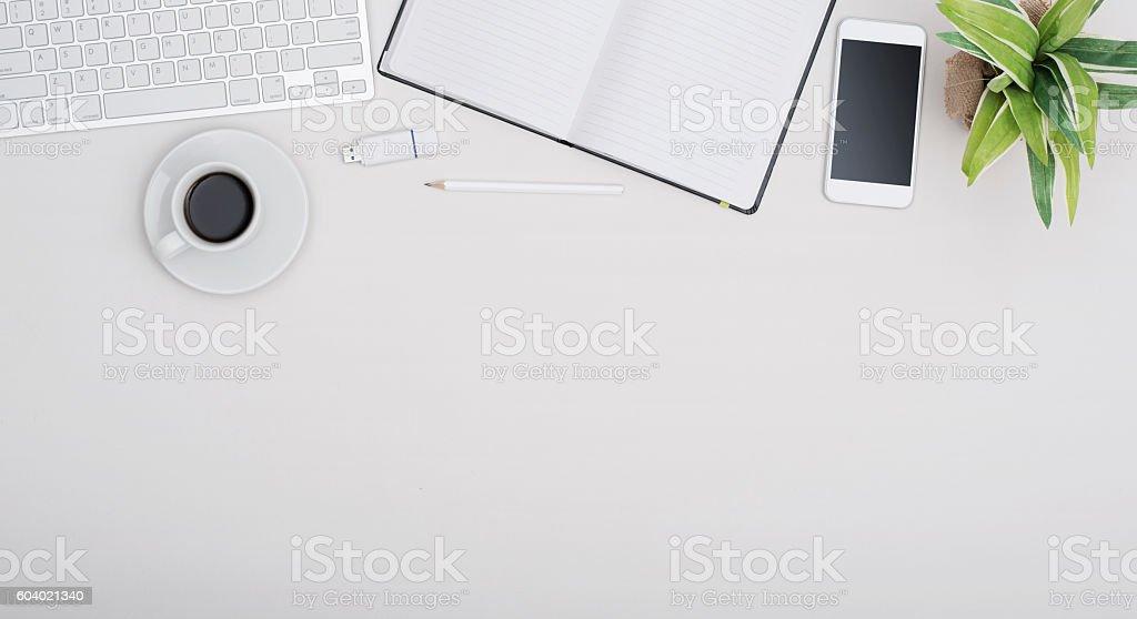 Office desk header royalty-free stock photo