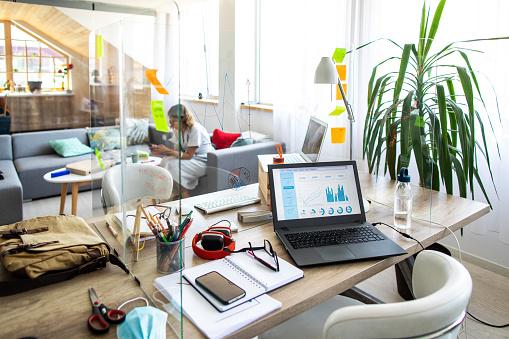 Office desk in modern office