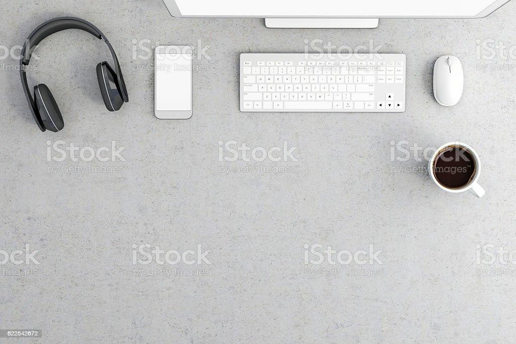 Office desk knolling
