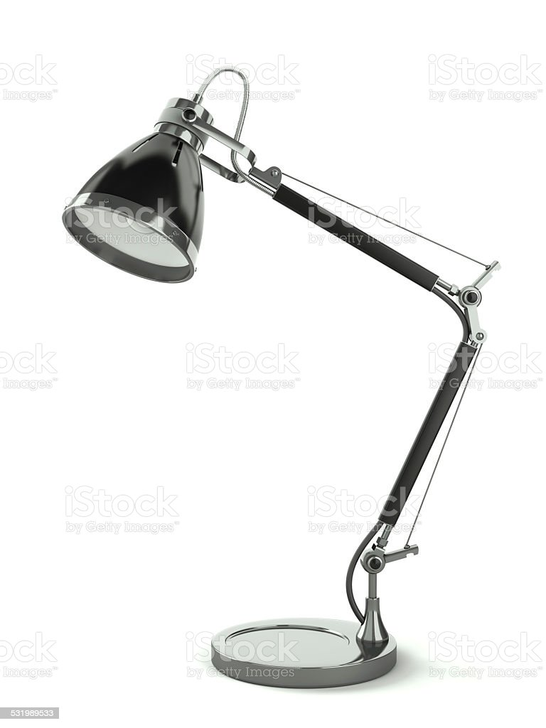 Office desk lamp stock photo