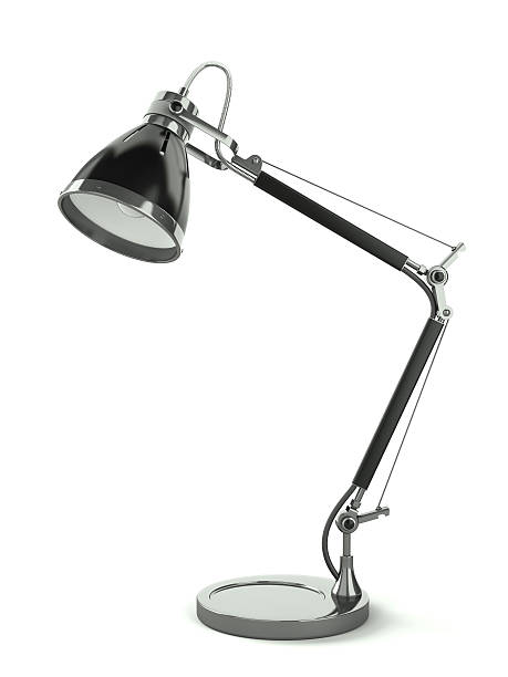 Office desk lamp stock photo