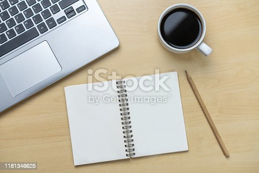 843814242 istock photo Office desk workspace and table background. 1181346625