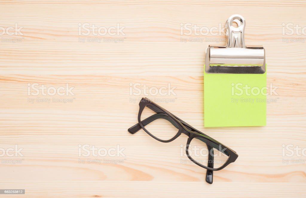 Office desktop with glasses royalty-free 스톡 사진