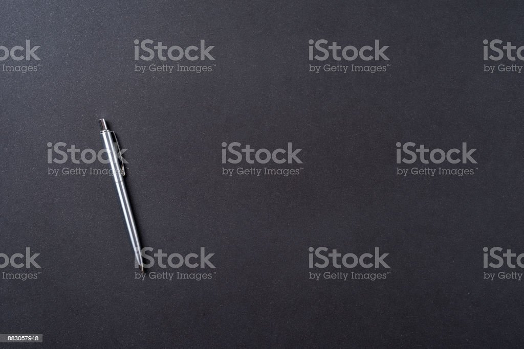 Office desktop with pen stock photo