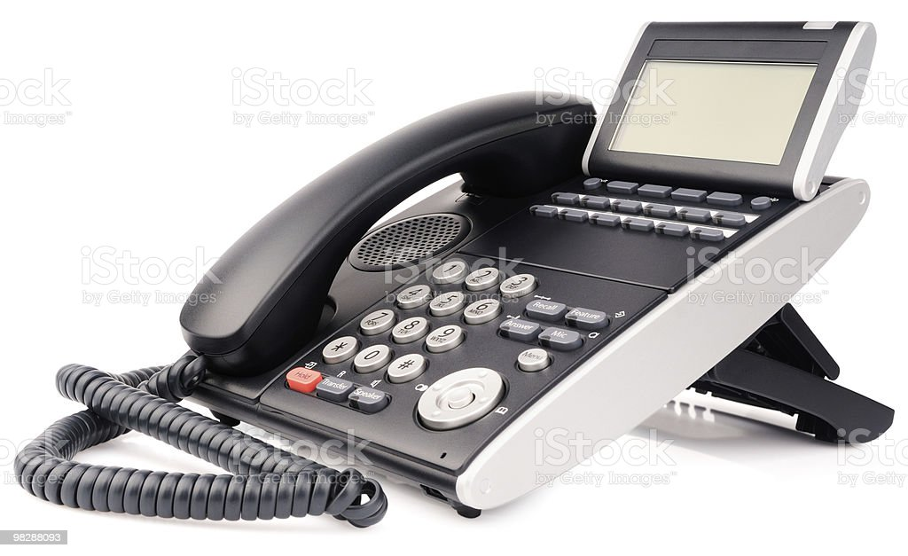 Office digital multi-button telephone royalty-free stock photo