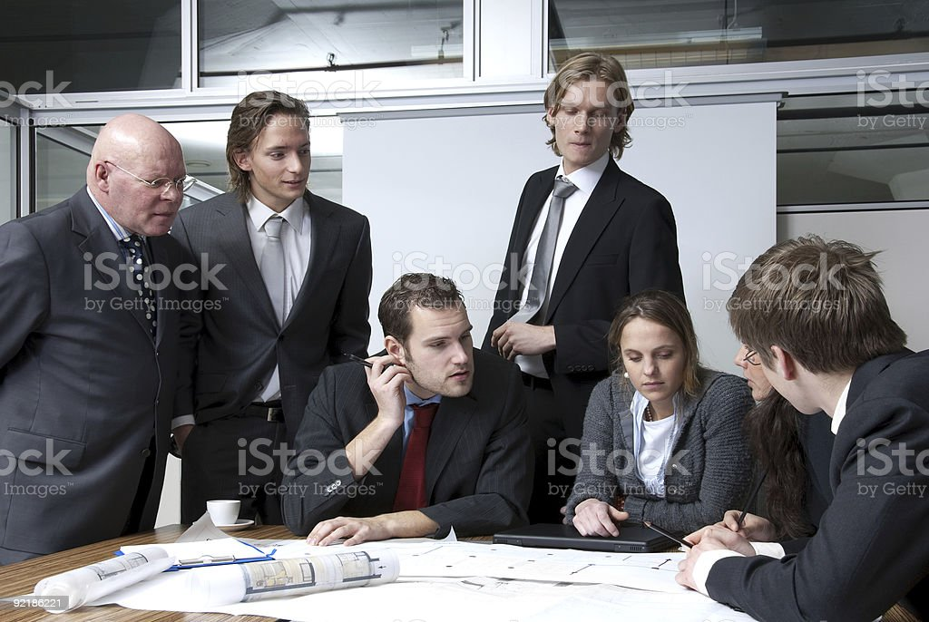 Office Discussion royalty-free stock photo