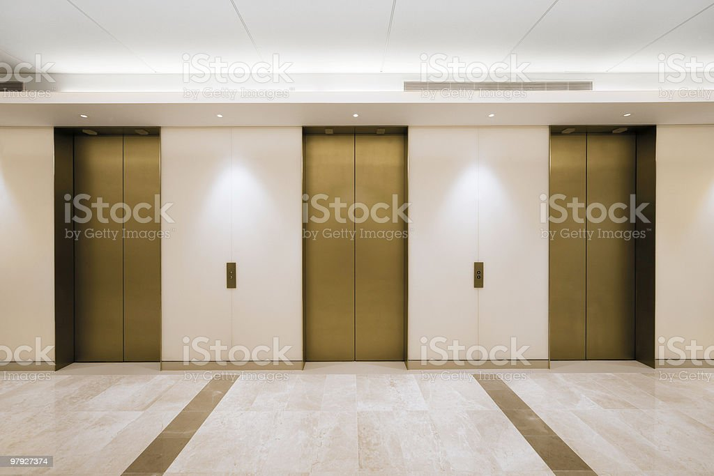 Office Elevators royalty-free stock photo