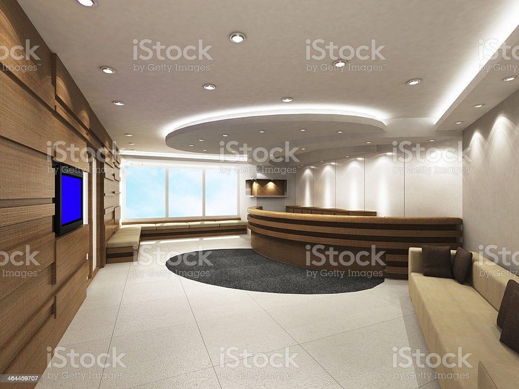 Ufficio Di Entrata : Ufficio area di ingresso con reception banco fotografie stock e