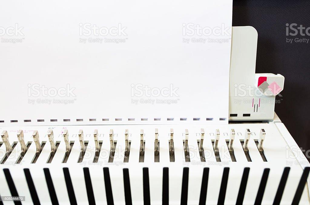 Office equipment bookbinding stock photo