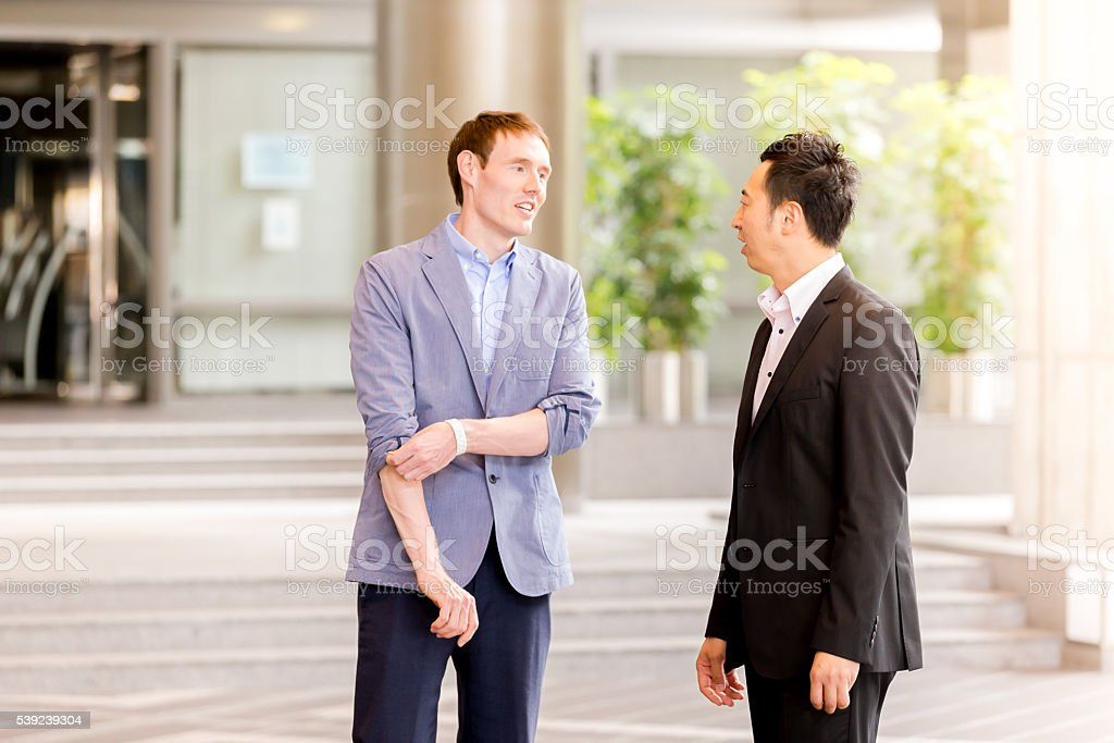 Office Executives having casual meeting after an event royalty-free stock photo