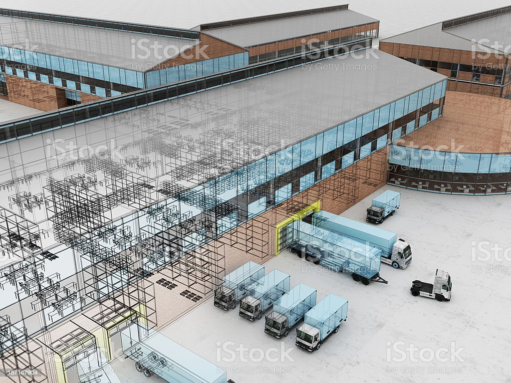 Office, factory and cargo service stock photo