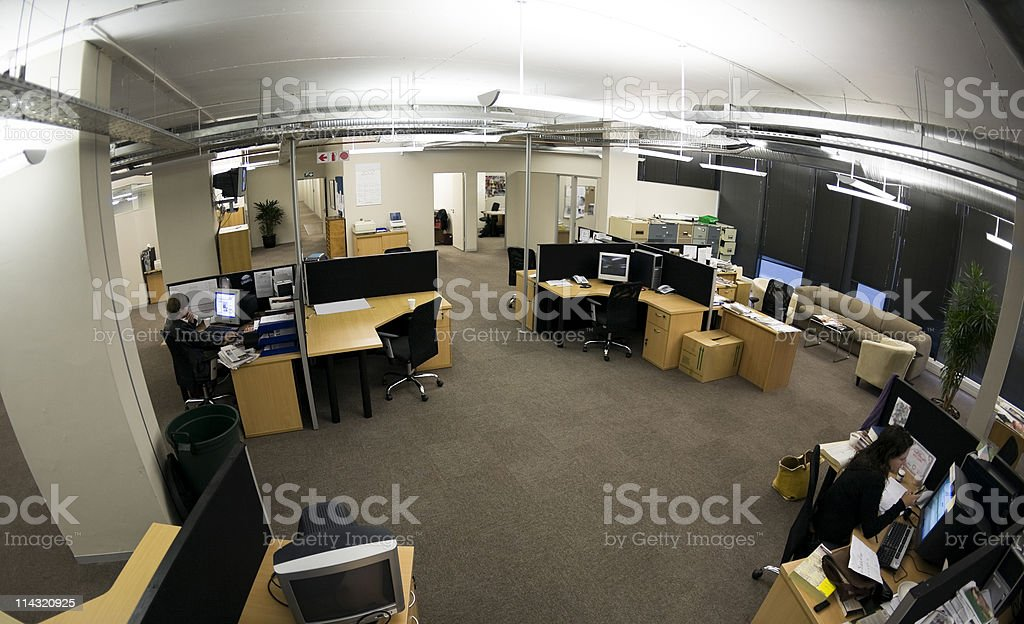 Office fisheye stock photo