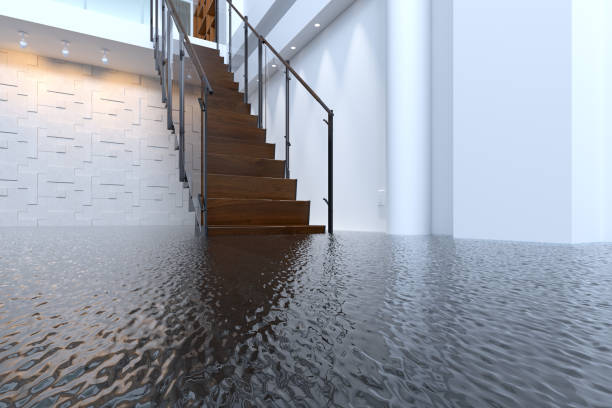 office flooded - damaged stock photos and pictures