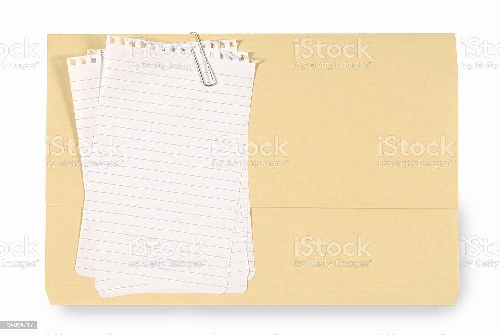 Office folder royalty-free stock photo