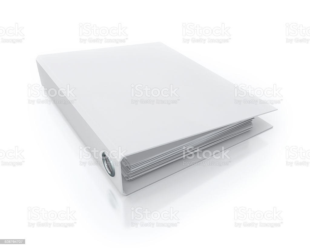 Office Folder Template Isolated on White Background stock photo