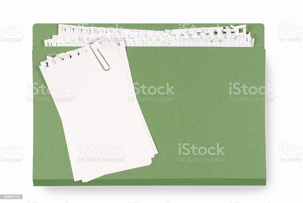 Office folder with untidy note paper royalty-free stock photo