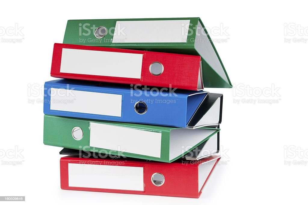 Office folders isolated on the white background royalty-free stock photo