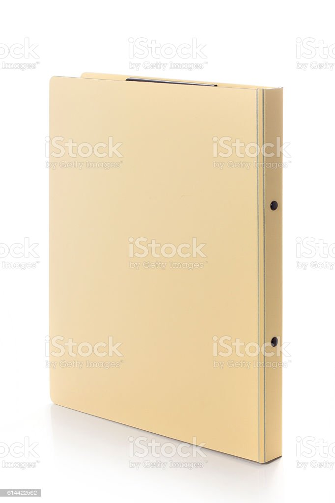 office folders isolated on white background stock photo