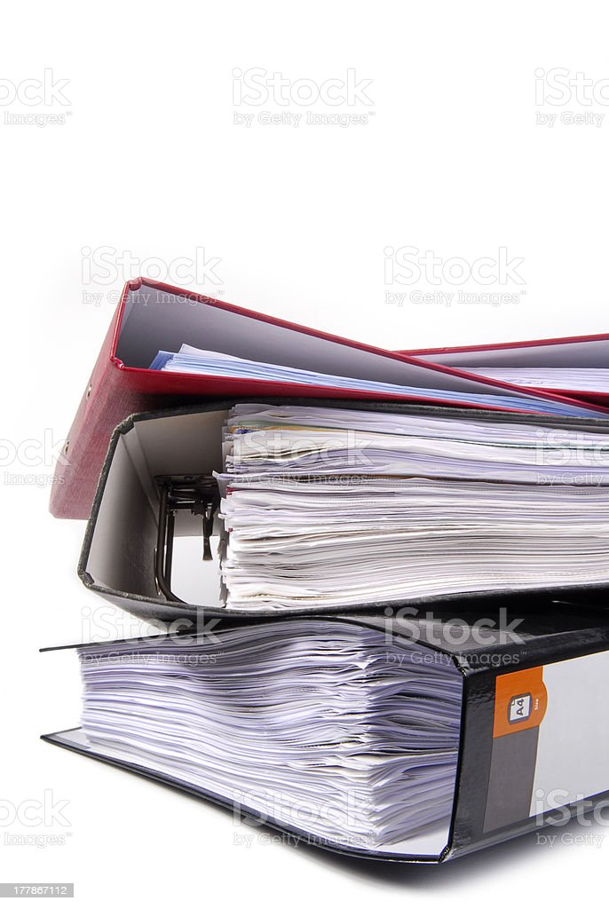 office folders royalty-free stock photo