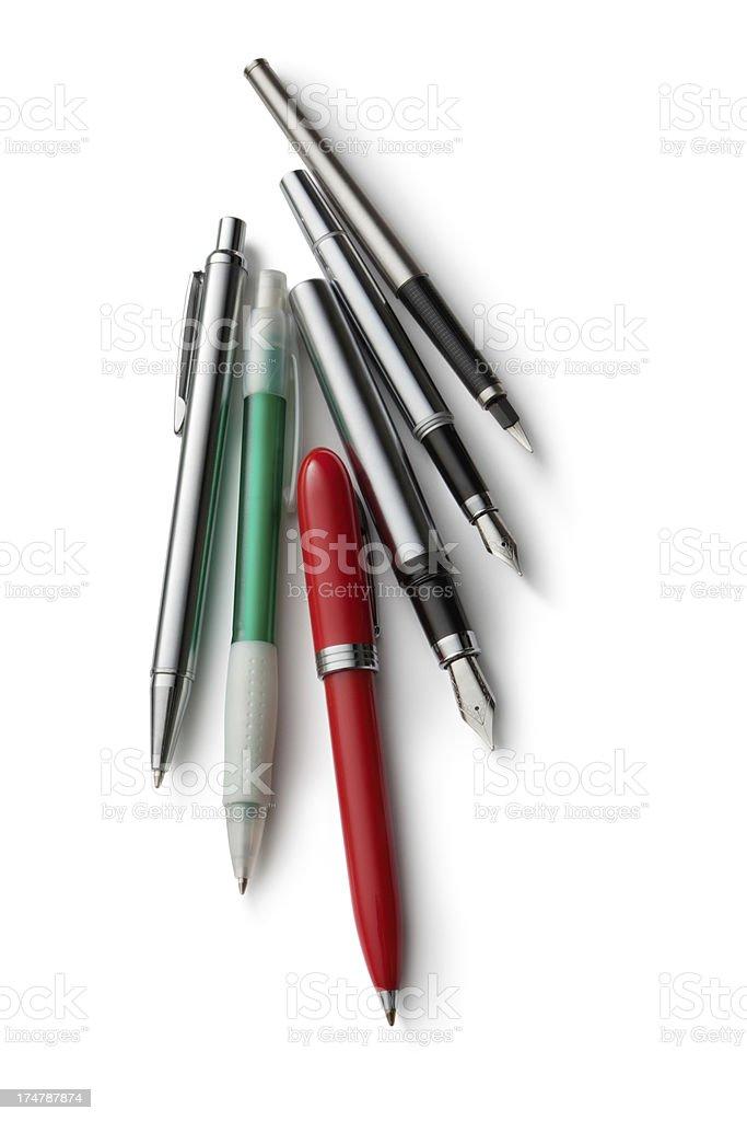 Office: Fountain Pen and Ballpoin Pen royalty-free stock photo