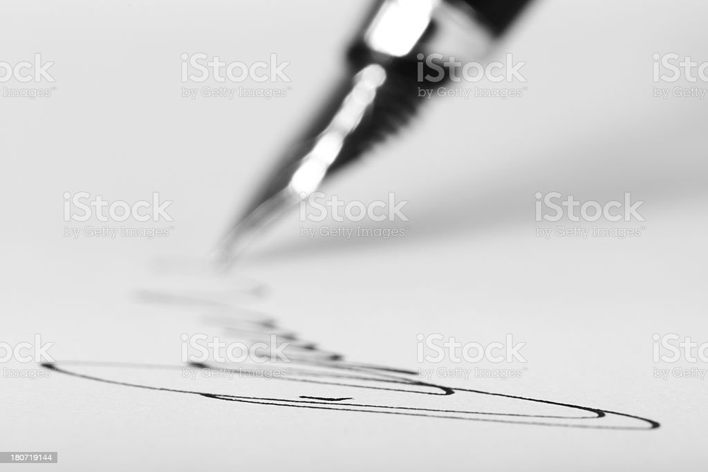 Office: Fountain Pen royalty-free stock photo