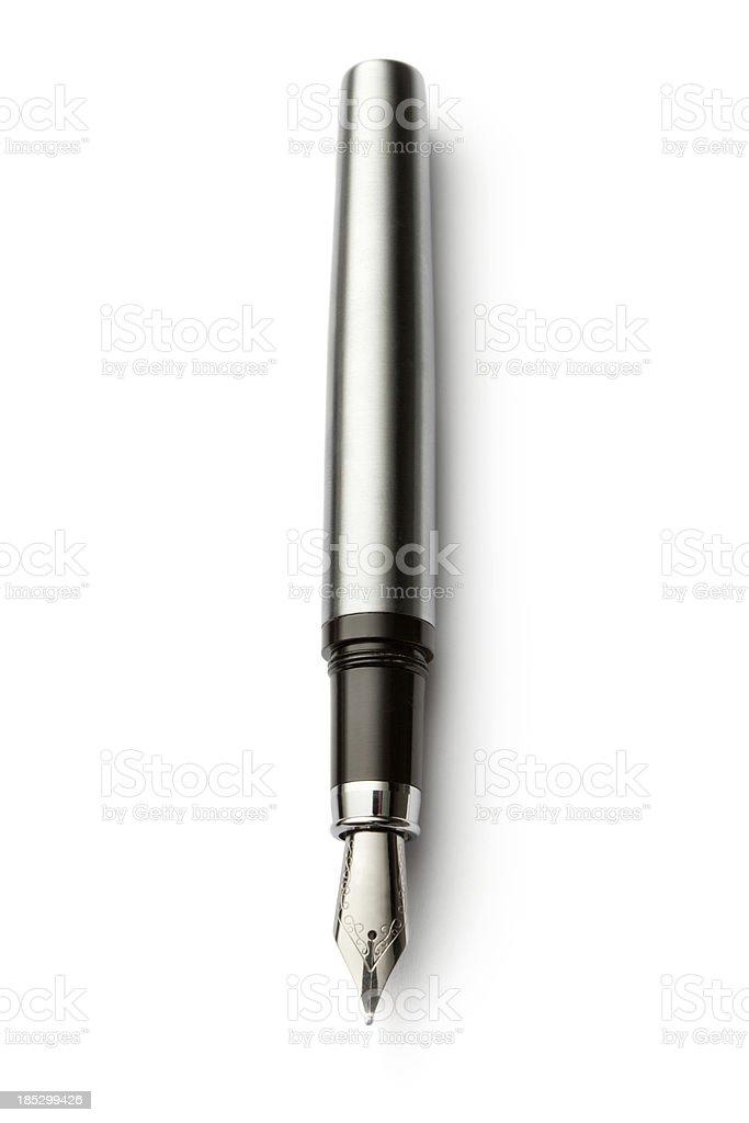 Office: Fountain Pen royalty-free stock photo