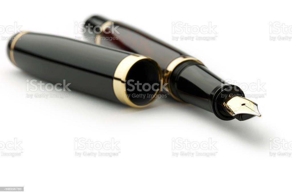 Office Fountain Pen stock photo