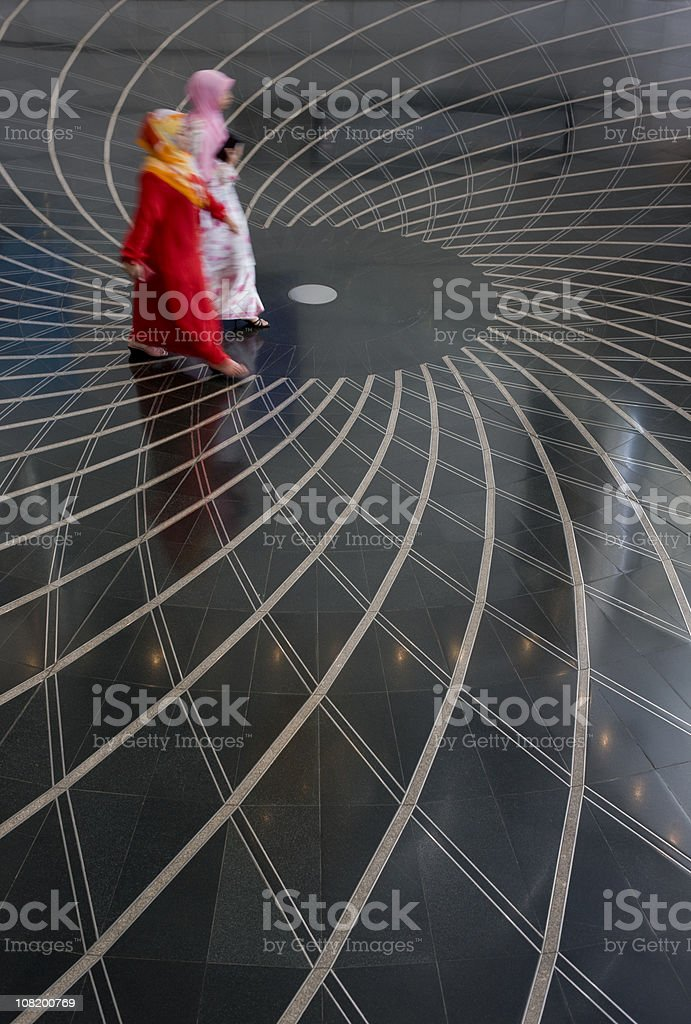 Office foyer patterned floor surface. royalty-free stock photo