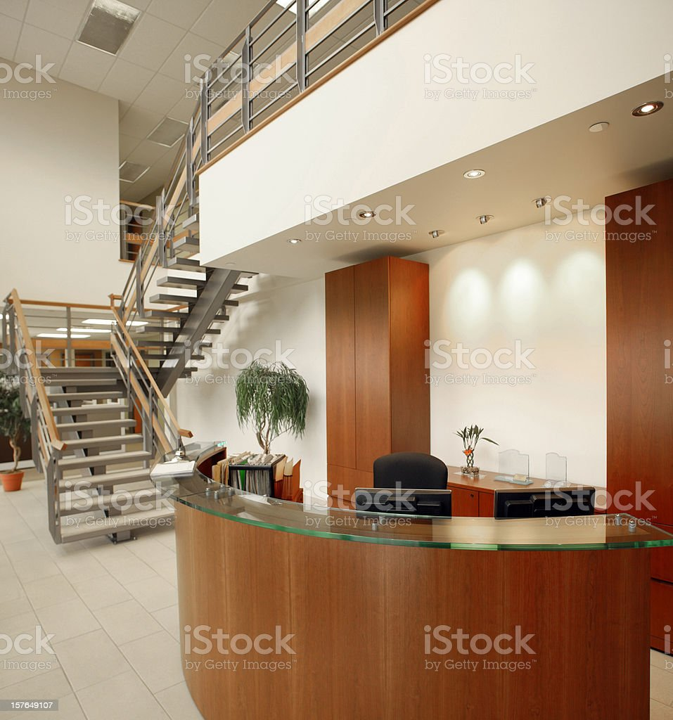 office front desk royalty-free stock photo