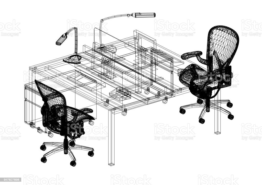 Office furniture 3d blueprint isolated stock photo more pictures office furniture 3d blueprint isolated royalty free stock photo malvernweather Choice Image